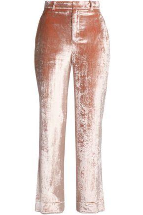 TOME Velvet straight-leg pants
