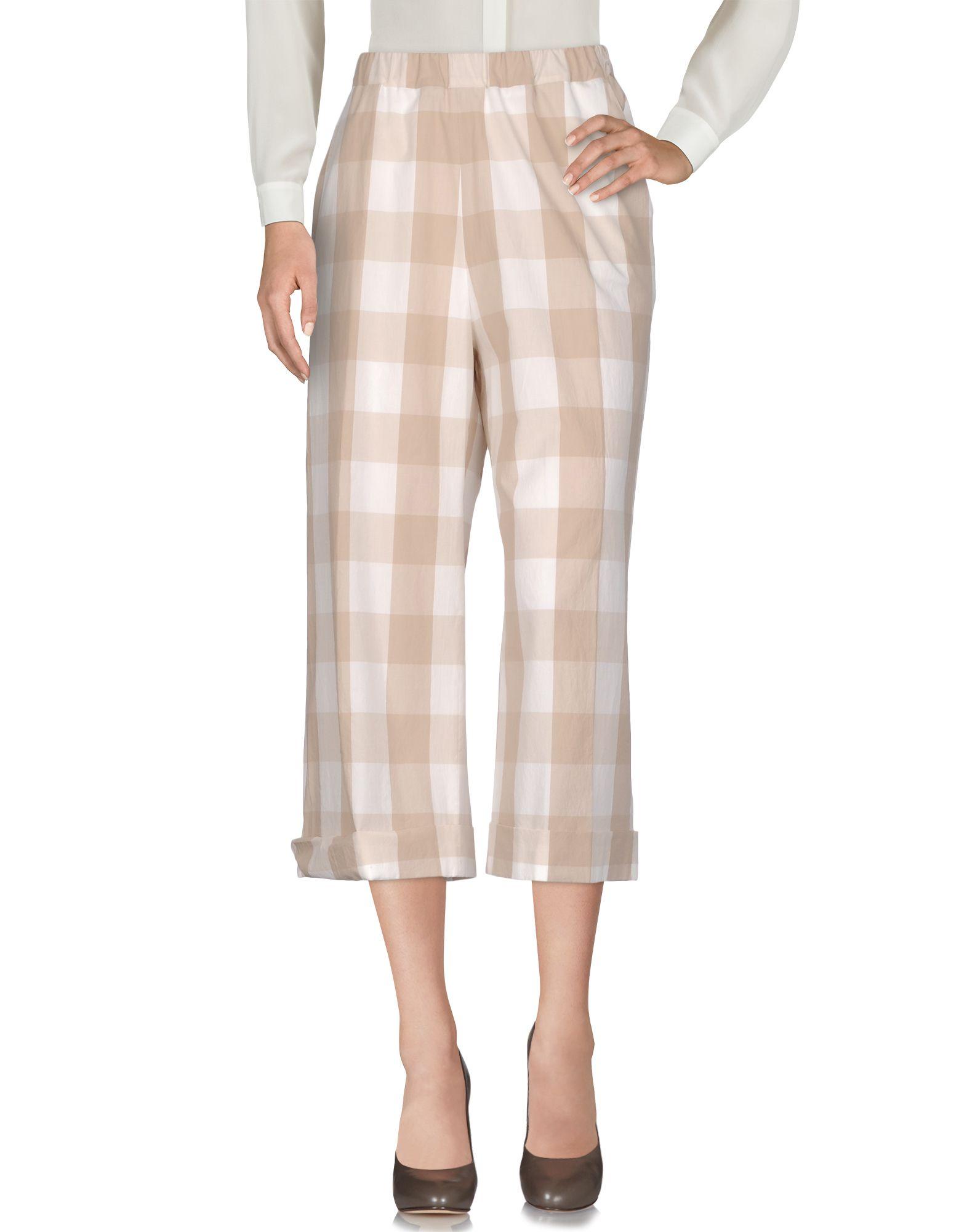 VIA MASINI 80 Повседневные брюки брюки широкие с принтом в клетку виши