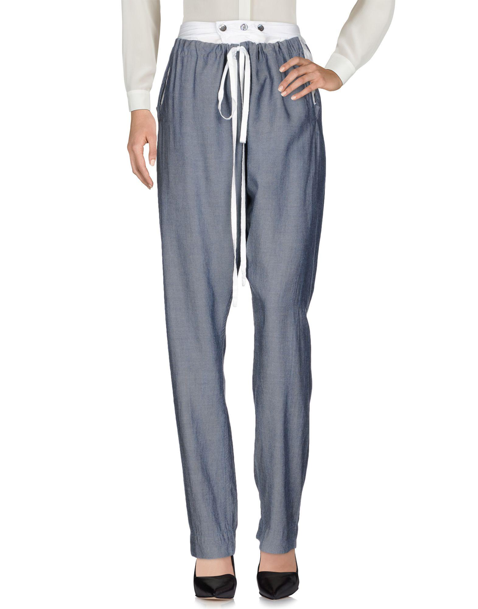 《送料無料》ANDREAS KRONTHALER for VIVIENNE WESTWOOD レディース パンツ ブルーグレー I テンセル 100% / レーヨン / シルク