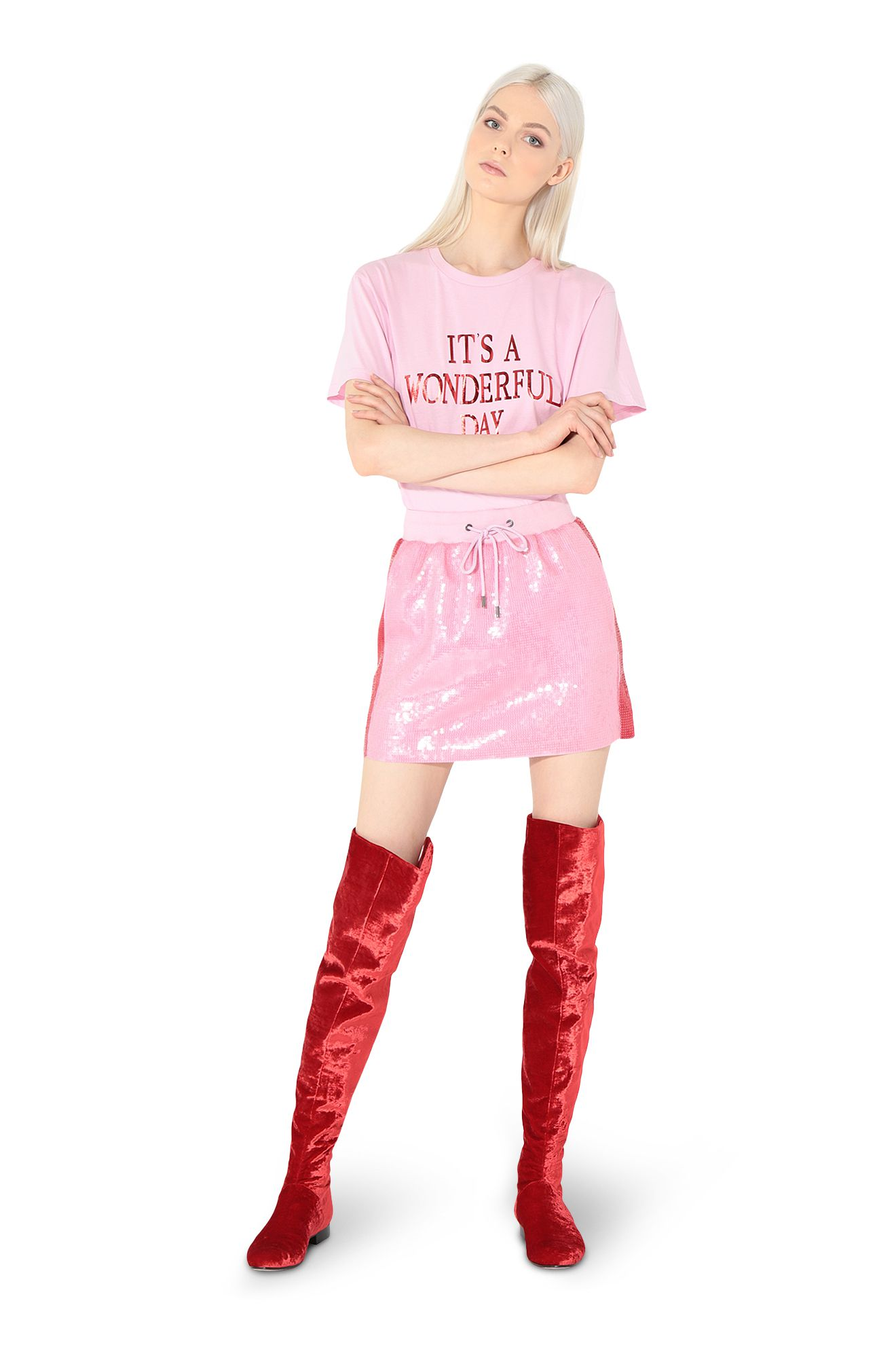 Mini-jupe en paillettes