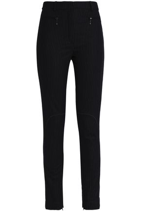 NINA RICCI Pinstriped wool-blend slim-leg pants