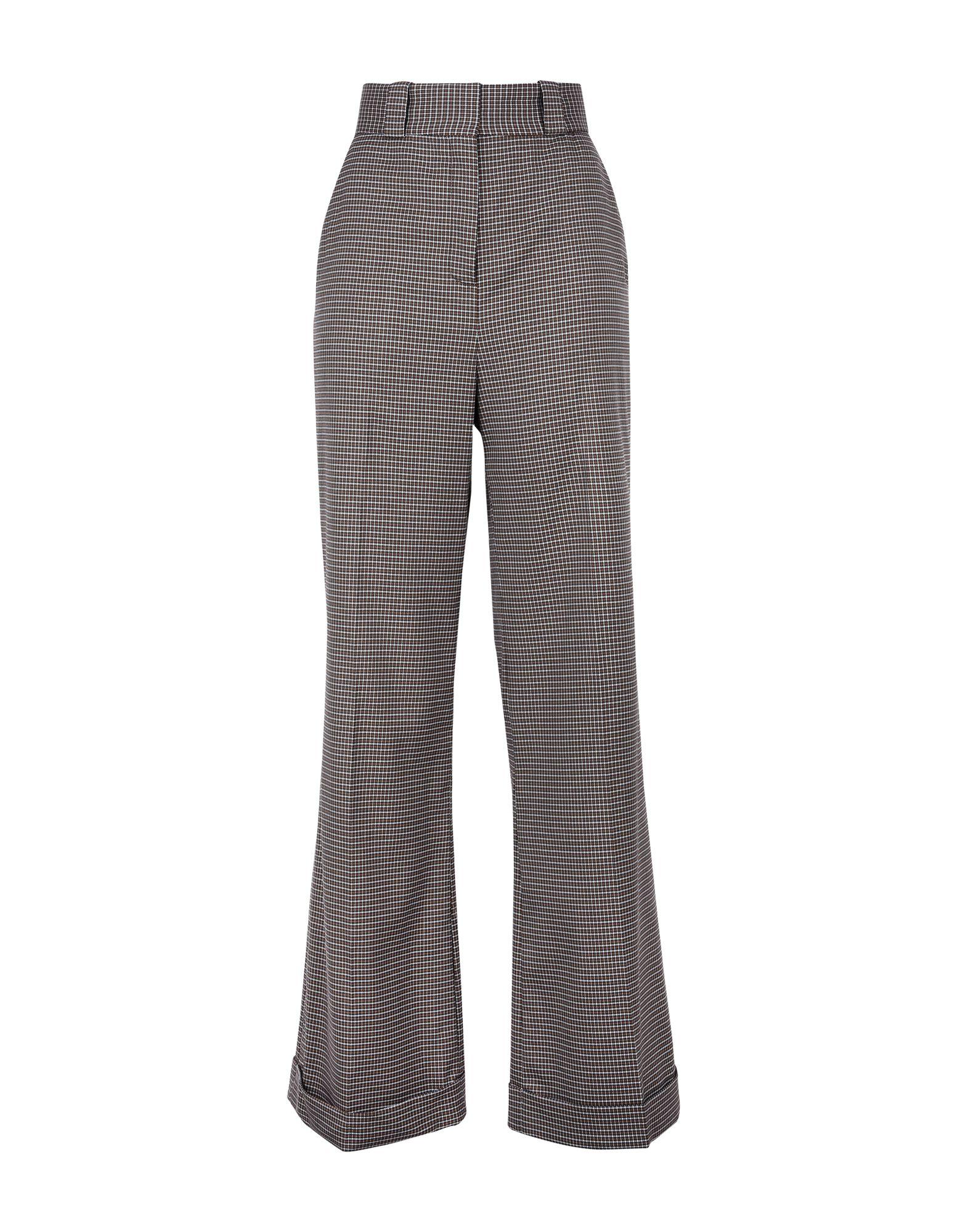 SEE BY CHLOÉ Повседневные брюки брюки широкие с принтом в клетку виши