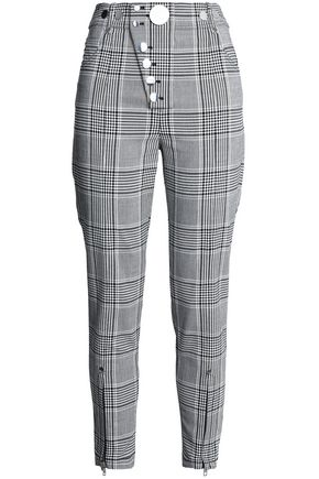 ALEXANDER WANG Checked woven skinny pants