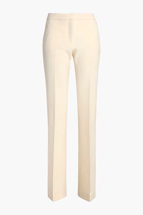 VICTORIA, VICTORIA BECKHAM Wool-blend cady bootcut pants