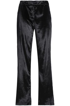 MILLY Velvet straight-leg pants