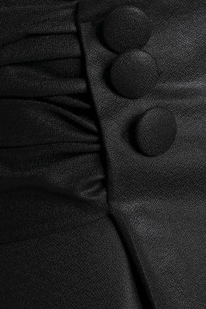 MARCO DE VINCENZO Ruched wool-crepe wide-leg pants
