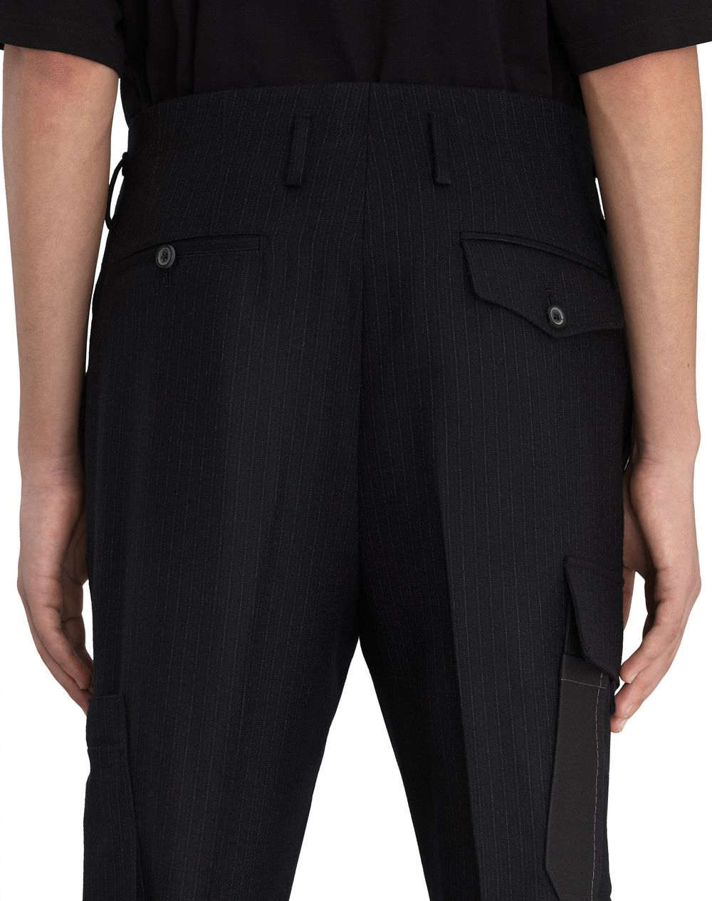 STRIPED COMPACT WOOL PANTS - Lanvin
