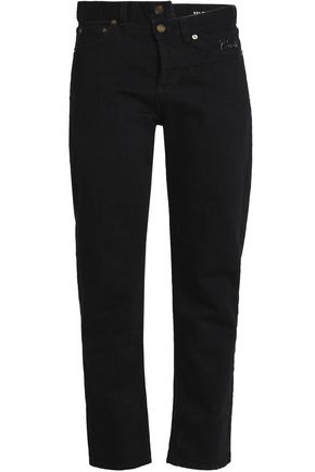 SAINT LAURENT High-rise slim-leg jeans