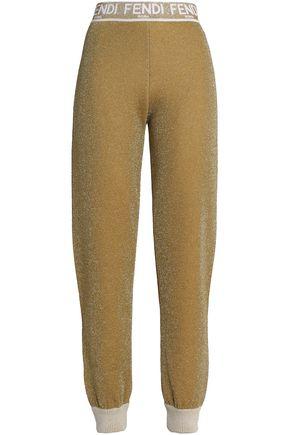 e053a3e93106 FENDI Metallic wool track pants ...