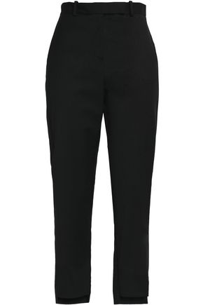 MAJE Cropped twill tapered pants