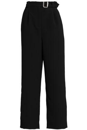 MAJE Belted twill wide-leg pants