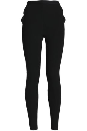 VALENTINO Ribbed-knit skinny pants