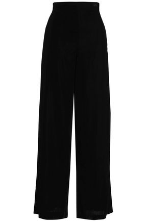 MAJE Prali velvet wide-leg pants
