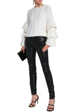 VALENTINO Studded leather skinny pants
