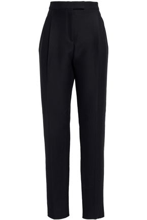 VALENTINO Wool and silk-blend straight-leg pants