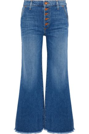 ALICE + OLIVIA JEANS Cropped high-rise wide-leg jeans