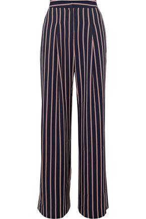 W118 by WALTER BAKER Unique striped twill wide-leg pants
