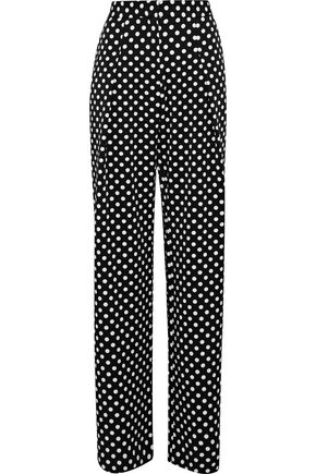W118 by WALTER BAKER Kris polka-dot twill wide-leg pants