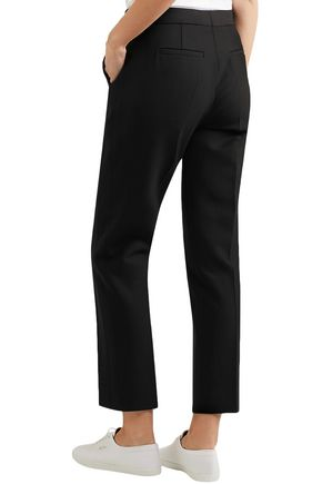 VICTORIA, VICTORIA BECKHAM High-rise crepe tapered pants