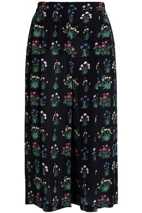 VALENTINO Floral-print silk-crepe culottes
