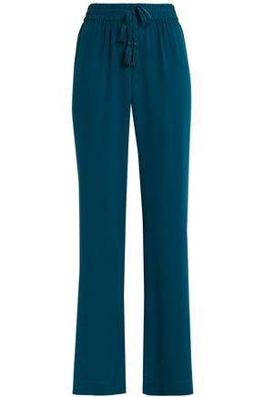 JOIE Washed-silk wide-leg pants