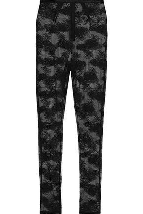 FLEUR DU MAL Stretch-lace leggings