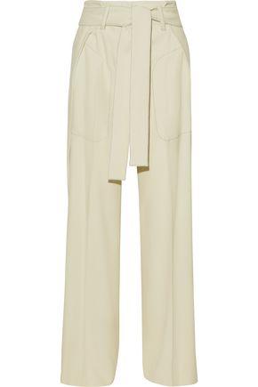 DEREK LAM Belted woven wide-leg pants