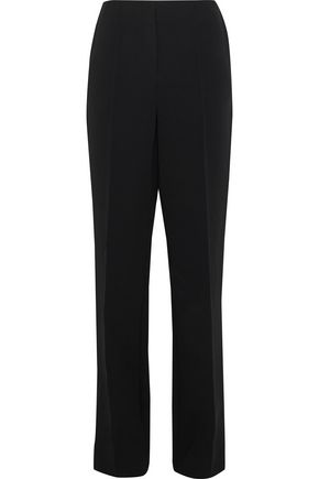 DIANE VON FURSTENBERG Pleated ponte straight-leg pants