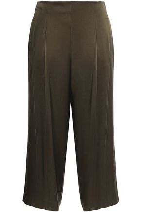 THEORY Silk-satin culottes