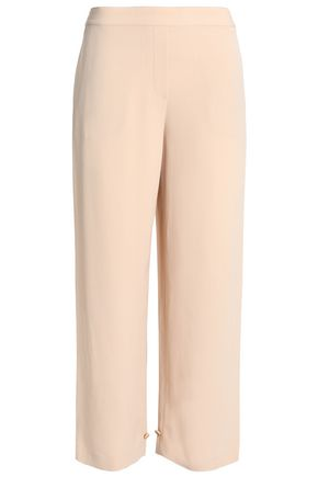 THEORY Satin-crepe wide-leg pants
