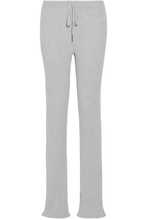 MARQUES' ALMEIDA Ribbed merino wool track pants