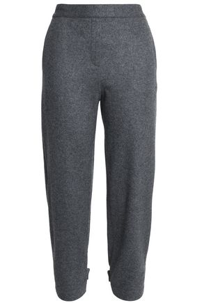 THEORY Cropped brushed wool-blend tapered pants