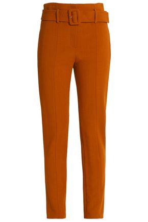 THEORY Belted crepe tapered pants