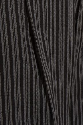 JACQUEMUS Striped wool-twill wide-leg pants