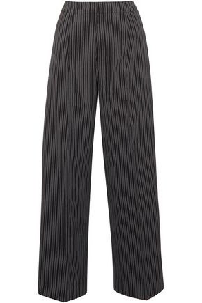 JACQUEMUS Striped wool-twill wide-leg pants