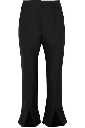 JACQUEMUS Le Corsaire Fendu wool and cotton-blend kick-flare pants