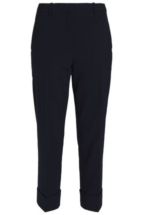 THEORY Cropped wool-blend tapered pants
