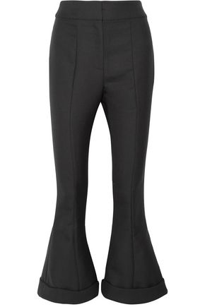 JACQUEMUS Nino cropped wool and cotton-blend flared pants