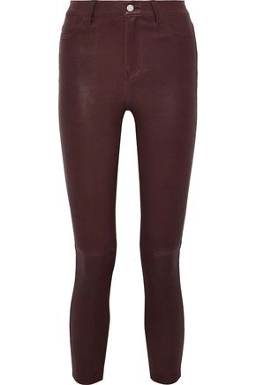 L'AGENCE Cropped leather skinny pants