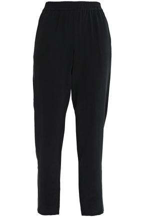 JOIE Cropped silk crepe de chine tapered pants