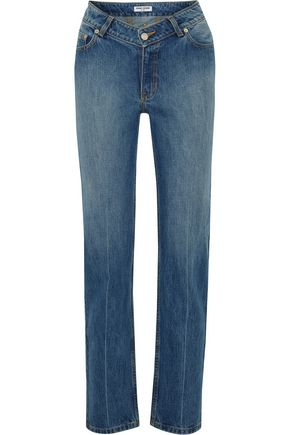 OPENING CEREMONY Faded mid-rise straight-leg jeans