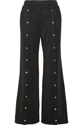 T by ALEXANDER WANG Embellished jersey wide-leg pants