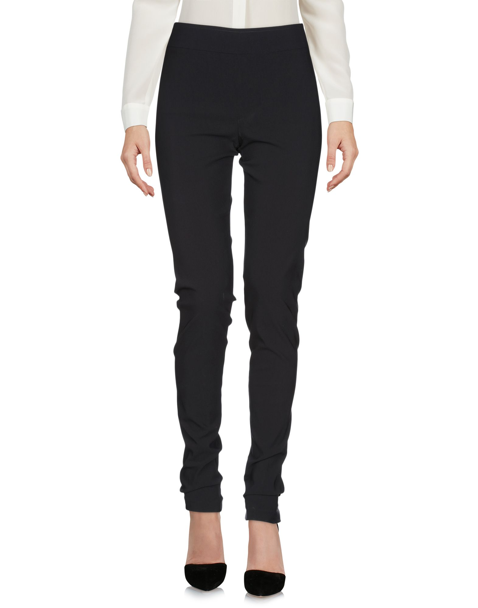 AVENUE MONTAIGNE Casual Pants in Black