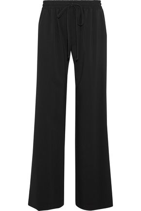MILLY Crepe wide-leg pants