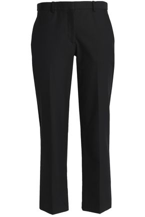 THEORY Cropped cotton-blend twill straight-leg pants