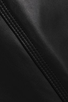 THEORY Leather straight-leg pants