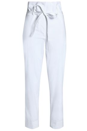 THEORY Stretch-cotton poplin straight-leg pants