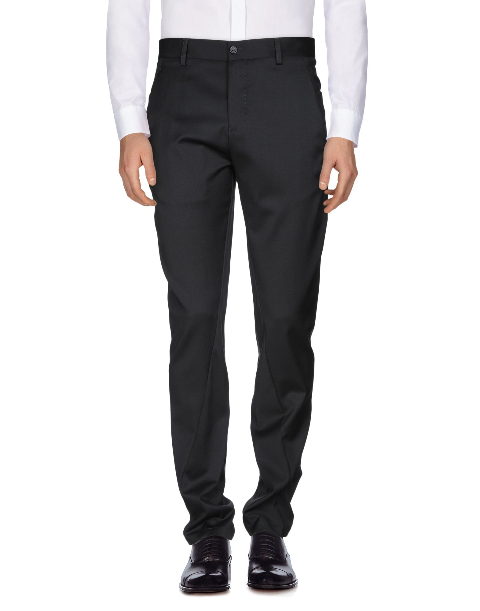 《送料無料》EMPORIO ARMANI メンズ パンツ ブラック 56 バージンウール 100%