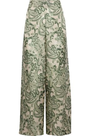 ACNE STUDIOS Tennessee printed satin-twill wide-leg pants