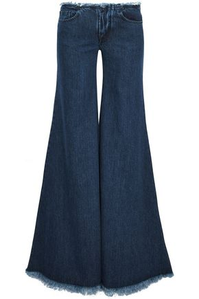 MARQUES' ALMEIDA Frayed low-rise flared jeans